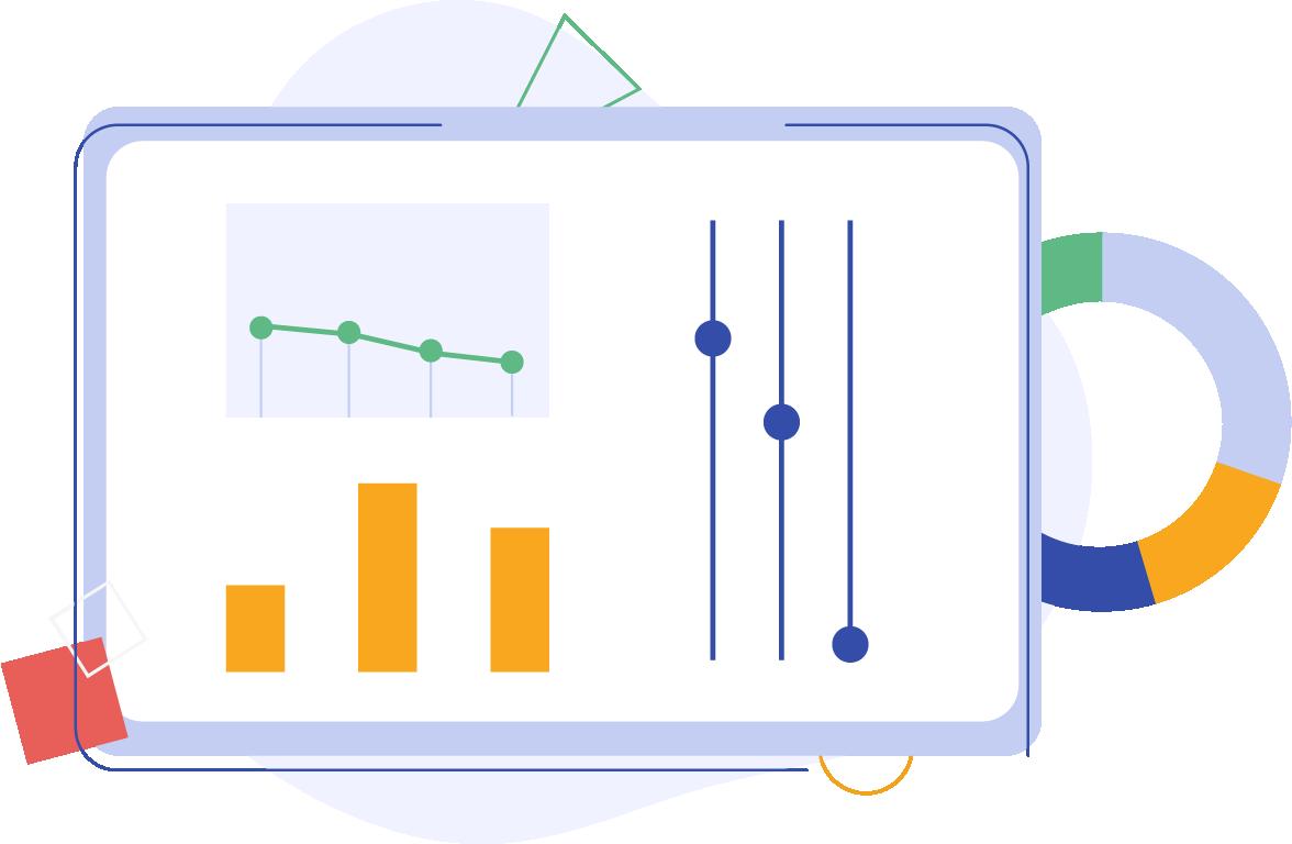 pc con analisi delle performance aziendali