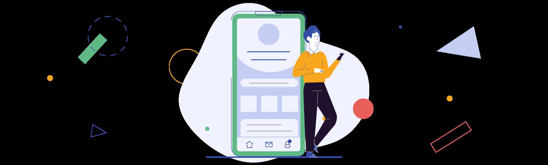 illustrazione vantaggi dello sviluppo di un'app